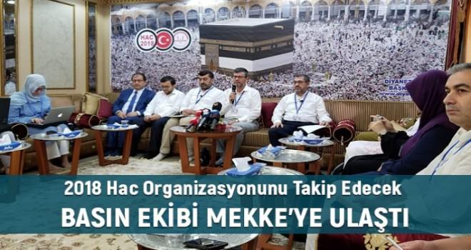 Mekke'de Basın Mensuplarına Hac Bilgilendirme Toplantısı Yapıldi