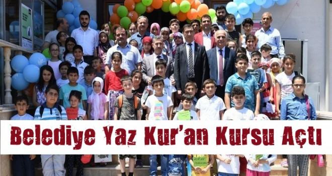 Belediye ve Müftülük'ten Ortaklaşa Yaz Kur'an Kursu