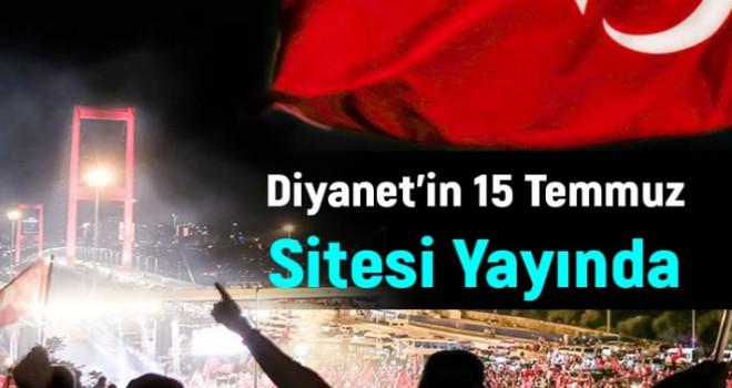 Diyanet'in 15 Temmuz Sitesi Yayına Başladı