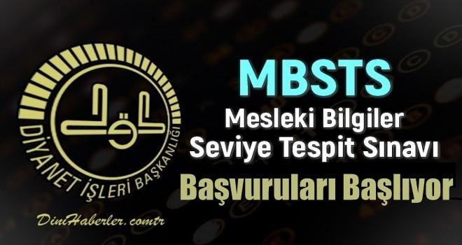 MBSTS Sınavı Başvuruları Başlıyor.
