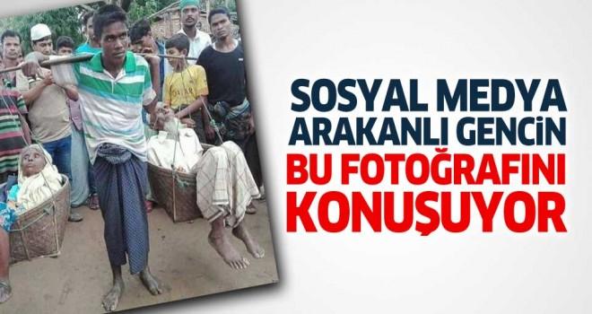 Sosyal medyada Arakanlı gencin bu fotoğrafı konuşuluyor