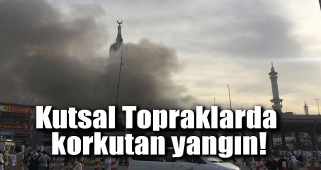 Kabe'deki şantiyede korkutan yangın