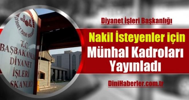 Nakil İsteyenler için Mayıs Ayı Münhal Kadroları Açıklandı