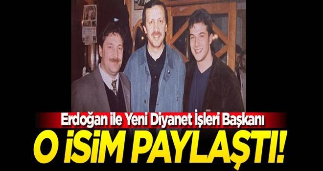 Yeni Diyanet İşleri Başkanı Erbaş ile Cumhurbaşkanı Erdoğan