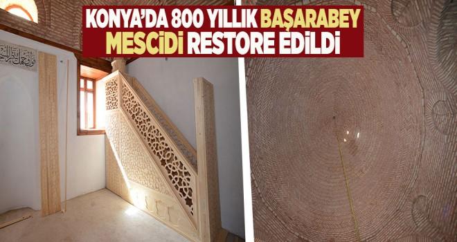 800 yıllık başarabey mescidi restore edildi