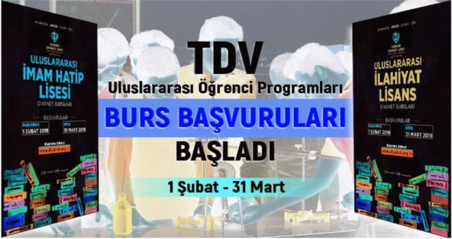TDV Uluslararası Öğrenci Programları burs başvuruları başladı