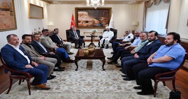 Erbaş, 15 Temmuz gazisi Diyanet personelini kabul etti