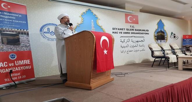 Başkan Erbaş, Mekke'de umrecilerle buluştu