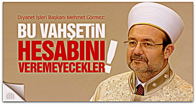 ABD\'nin cami katliamına Mehmet Görmez\'den tepki