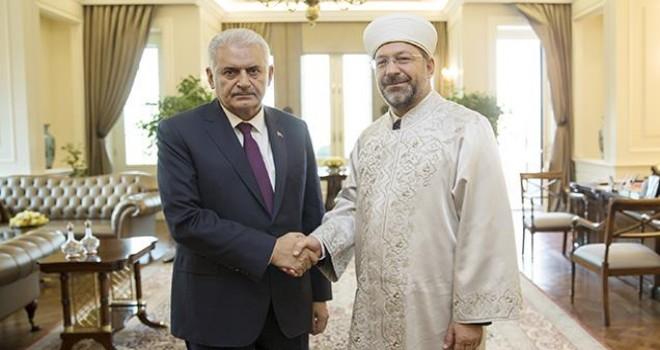 Başkan Erbaş, Başbakan Yıldırım'ı Ziyaret Etti