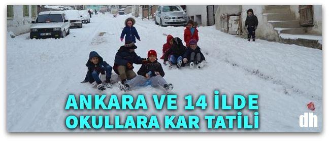 Ankara, Manisa ve birçok ilde okullara kar tatili