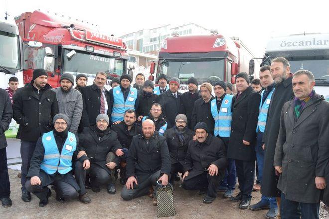 Ardahan\'dan Halep\'e 6 Tır Yardım Yapıldı