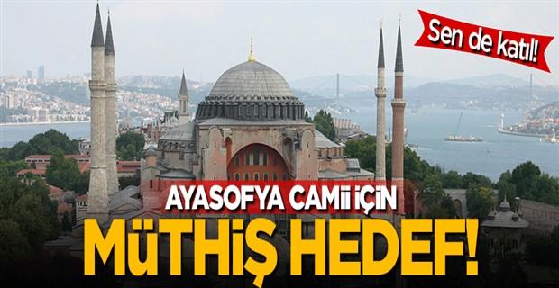 Ayasofya Camii için Hedef 1 milyon