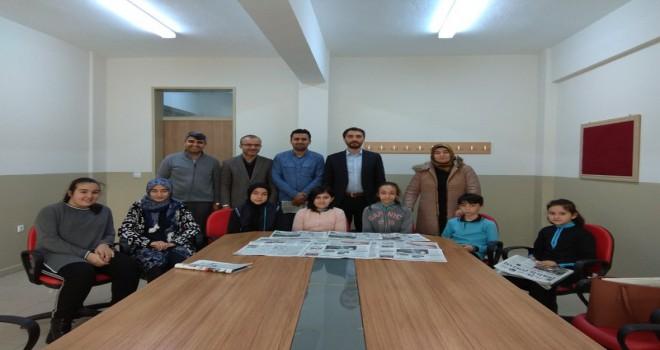 İ.H. Ortaokulu Diriliş Postası Gazetesi Gençlik Sayfasını Hazırladı