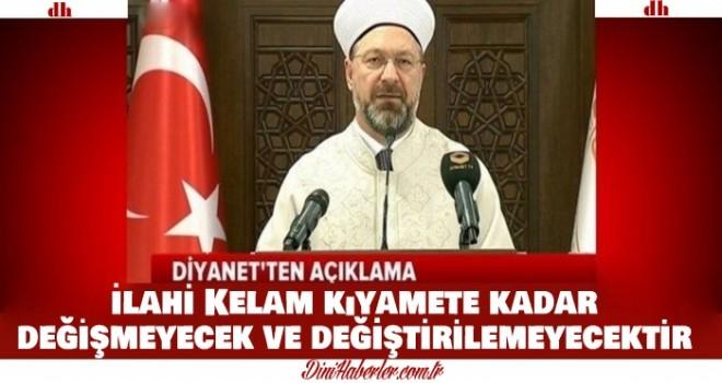 Kur'an-ı Kerim için yapılan hadsiz kampanyaya ilişkin basın açıklaması