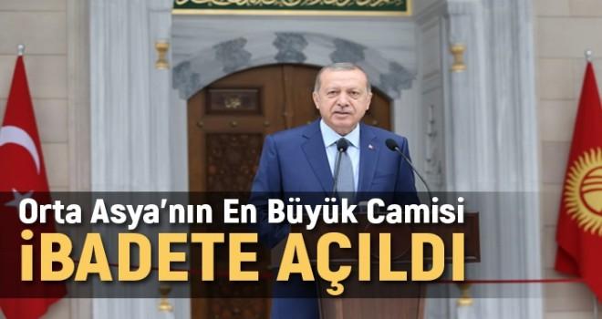 Orta Asya'nın En Büyük Camisi Cumhurbaşkanı Erdoğan'ın Katılımıyla İbadete Açıldı