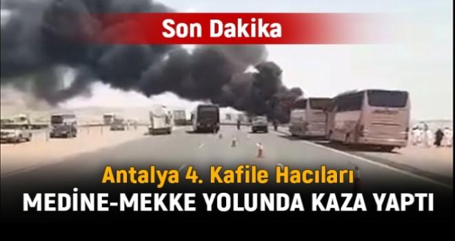 Medine'den Mekke istikametine giden hacı kafilesi kaza yaptı