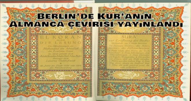 Berlin'de Kur'anın Almanca çevirisi yayınlandı.