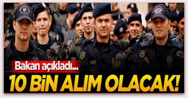 Bakan Soylu, 10 bin polis alınacak