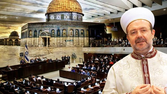 Başkan Görmez, Kudüs\'te Ezan yasağına tepki gösterdi.