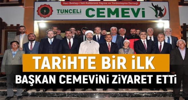 Tarihte bir ilk gerçekleşti, Diyanet İşleri Başkanı Cemevi'ni Ziyaret etti