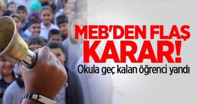 MEB'den flaş karar! Okula geç kalan öğrenci yandı
