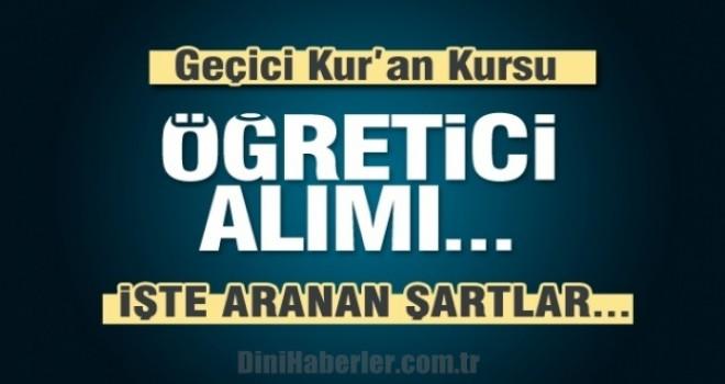 Erzincan İl Müftülüğü Fahri Öğretici Sınav İlanı !