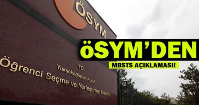 MBSTS'ye girecek adaylar dikkat!