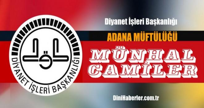 Adana Haziran Ayı Münhal Kadroları