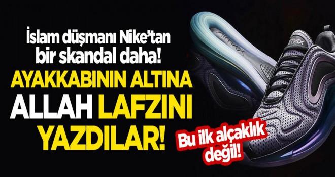 İslam düşmanı Nike'tan skandal! 'Allah' lafzını yine ayakkabının altına yazdılar