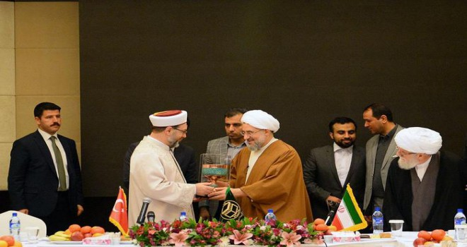 Diyanet İşleri Başkanı Erbaş İran'da,'İki ülkenin, ümmetin istifadesine sunabileceği çok hizmet var'