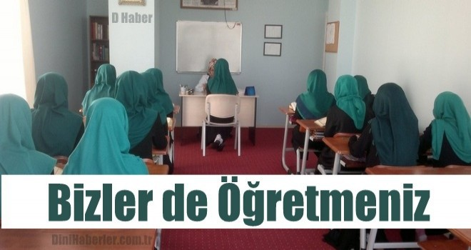 Kur'an Kursu Öğreticileri, 'Bizler de Öğretmeniz, Görün Artı' diyor