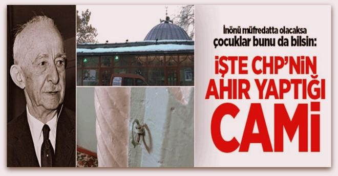 CHP camileri ahıra çevirmişti