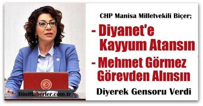 CHP\'li Biçer Başkan Görmez Hakkında Gensoru Verdi