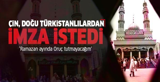 Çin, Doğu Türkistanlılar\'dan oruç tutmayacaklarına dair imza istedi!