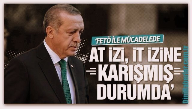 Cumhurbaşkanı Erdoğan, At izi, it izine karışmış durumda