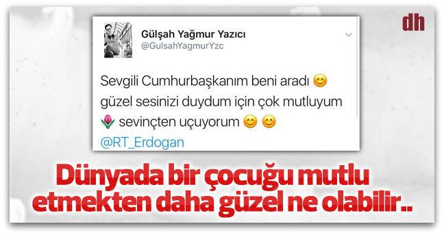 Cumhurbaşkanı Erdoğan engelli takipçisine cevap verdi!
