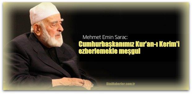 Cumhurbaşkanımız Kur\'an-ı Kerim\'i ezberlemekle meşgul