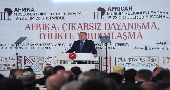 Erdoğan, 3. Afrika Ülkeleri Müslüman Dini Liderler Zirvesi'nde konuştu
