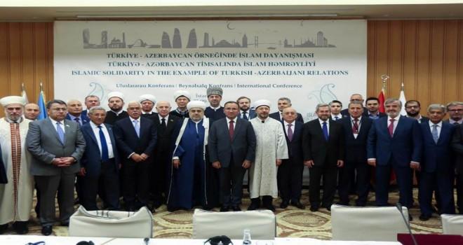Erbaş, 'Türkiye-Azerbaycan Örneğinde İslam Dayanışması' adlı uluslararası konferansın açılışına katıldı