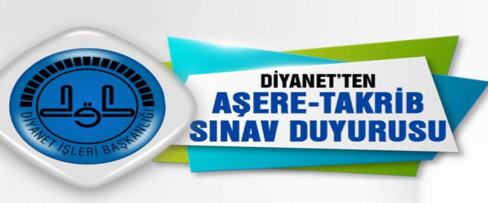 Diyanet Aşere Takrib kursuna sınavla 20 kursiyer alacak