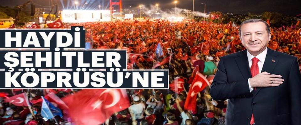 15 Temmuz Şehitler Köprüsü'nde hain Fetullah Gülen'e lanetler yağacak