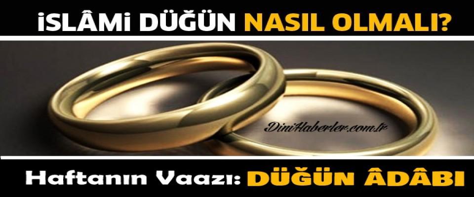 İslam'da Düğün Adabı