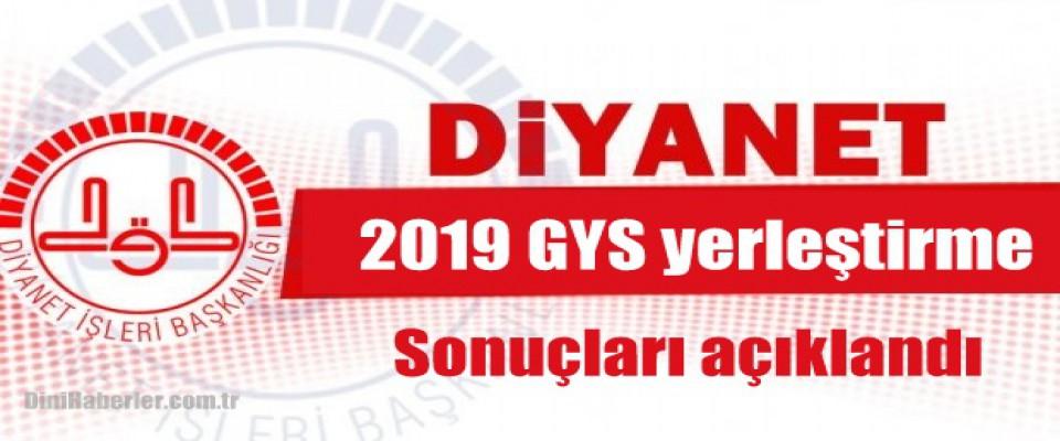 2019 GYS yerleştirme sonuçları açıklandı