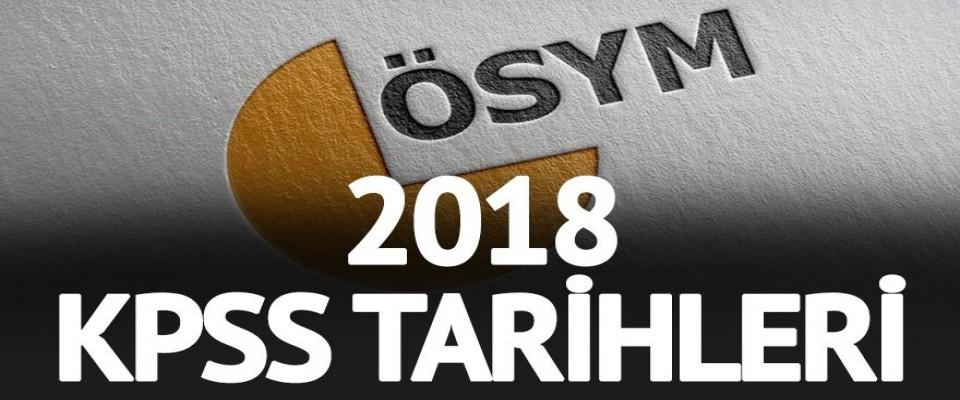 2018 Yılı KPSS Merkezi Yerleştirme ve Sınav Takvimine İlişkin Duyuru