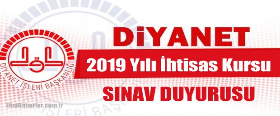 2019 Yılı İhtisas Kursu Duyurusu