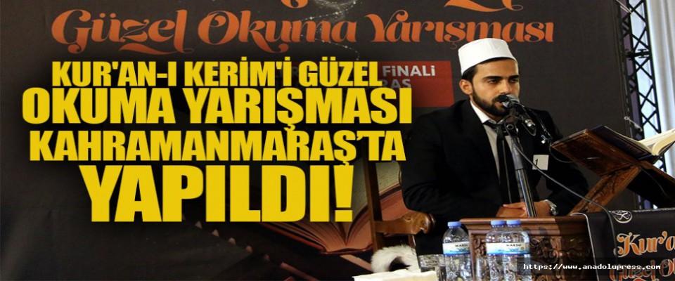 Kur'an-ı Kerim'i Güzel Okuma Yarışması Erkekler Türkiye Finali Kahramanmaraş'ta yapıldı.
