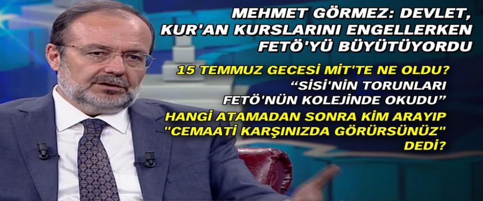 Mehmet Görmez: Devlet Kur'an kurslarını engellerken FETÖ'yü büyütüyordu