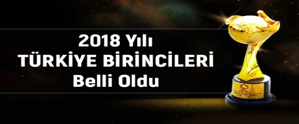 2018 Türkiye Birincileri Belli Oldu