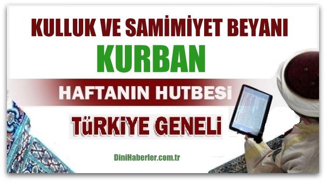 Diyanet 02.09.2016 Tarihli Cuma Hutbesi okunacak hutbe..